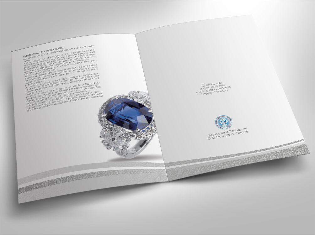 Brochure per ADO - associazione dettaglianti orafi della provincia di Catania