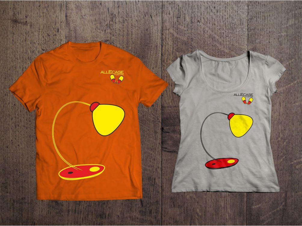 Allecase - progettazione grafica del logo e dei vari soggetti per la stampa di t-shirt