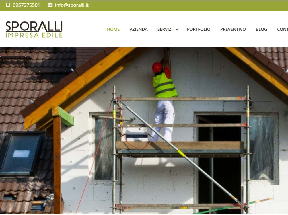 Web design sito sporalli impresa edile lgraphic for Design sito