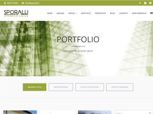 Web Design sito Sporalli impresa edile