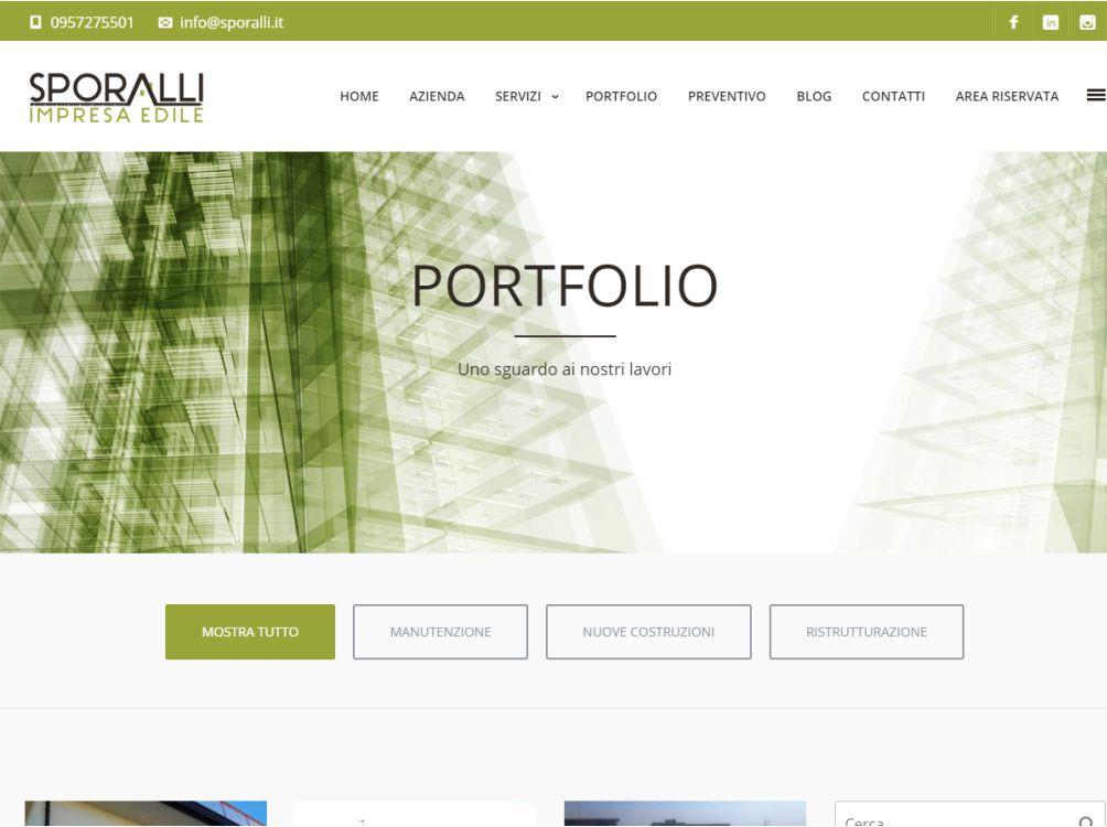Web design progettazione grafica del sito sporalli for Design sito